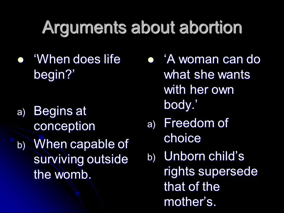 Abortion: Pro-Life or Pro-Choice