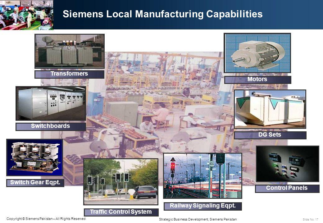 Siemens Local Manufacturing Capabilities