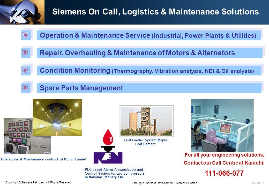 Siemens On Call, Logistics & Maintenance Solutions