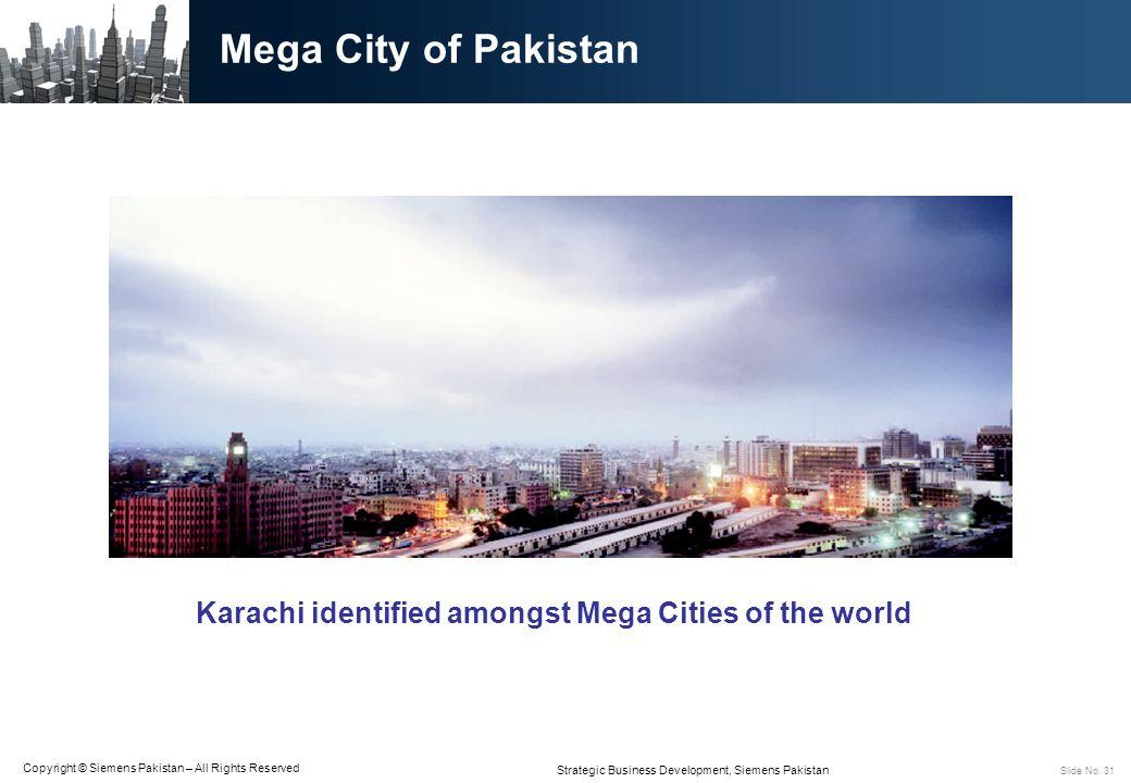Karachi identified amongst Mega Cities of the world