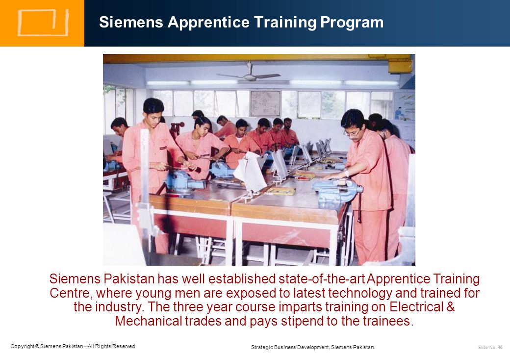 Siemens Apprentice Training Program