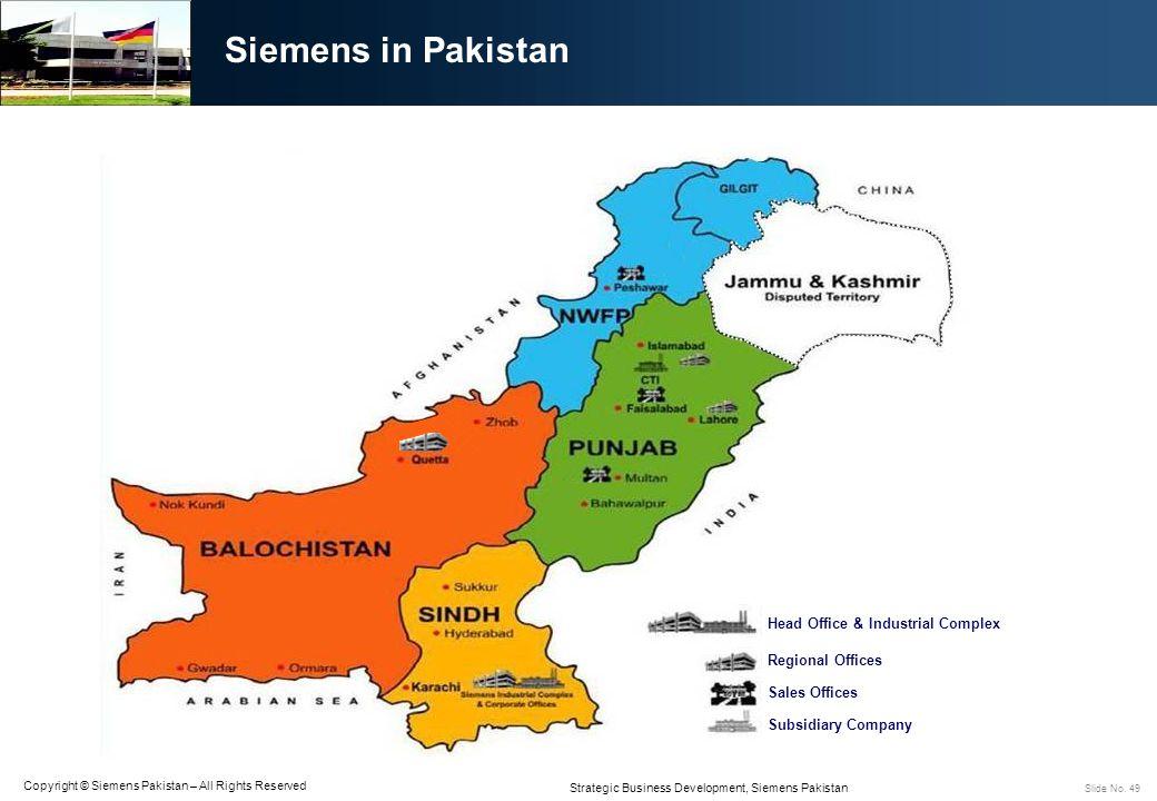 Siemens in Pakistan Head Office & Industrial Complex Regional Offices