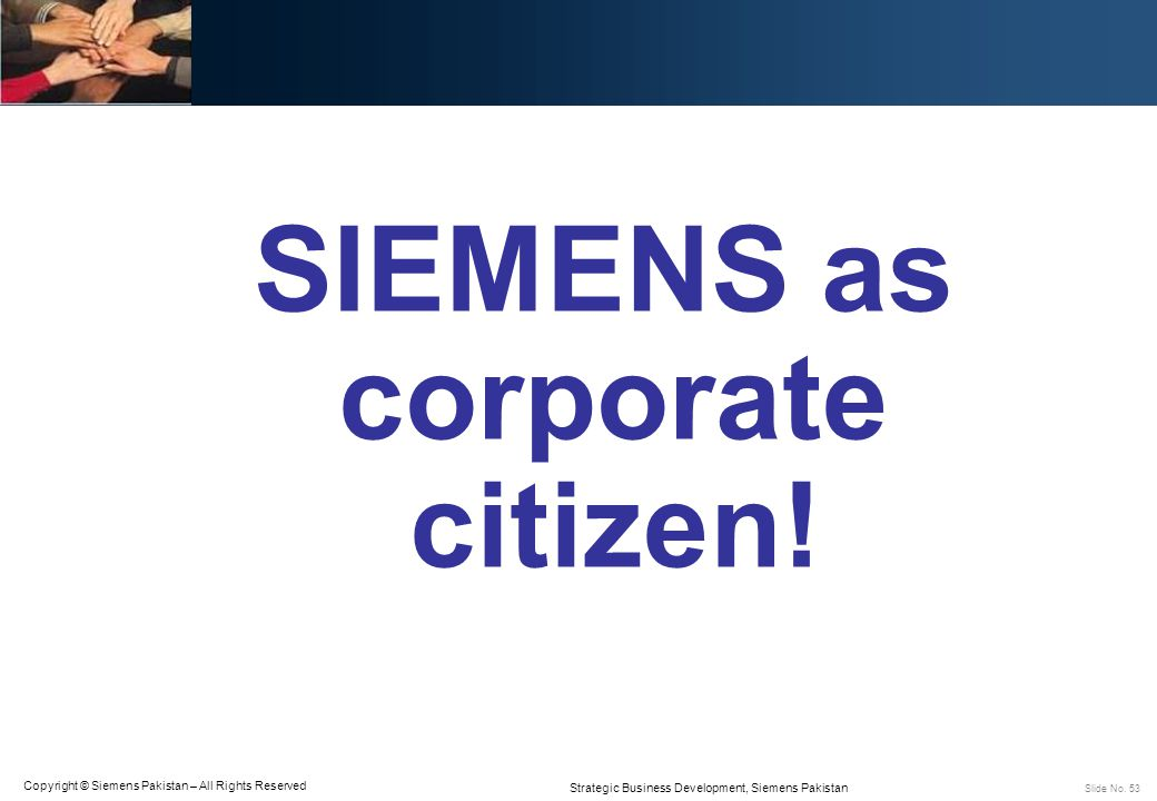 SIEMENS as corporate citizen!