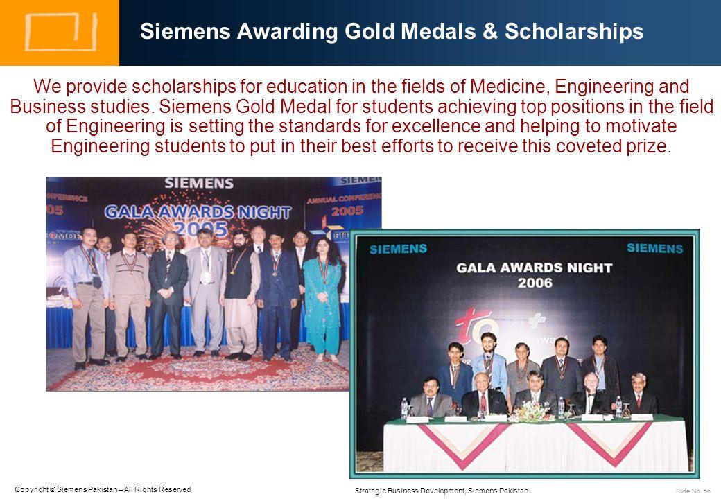 Siemens Awarding Gold Medals & Scholarships