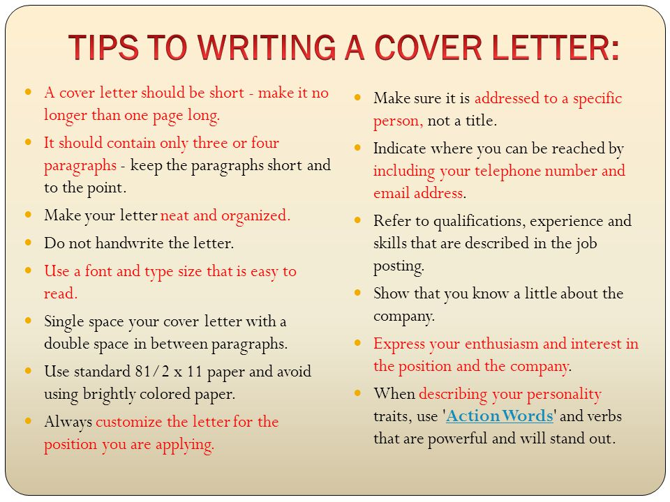 Getting ready for employment ppt download for Who should you address your cover letter to