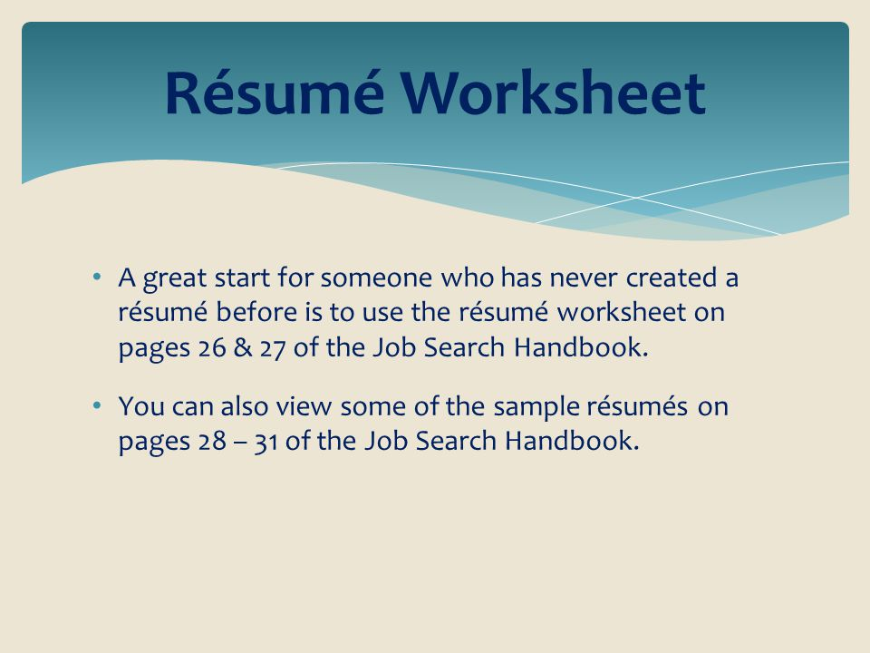 Riverside County Office of Education Career Technical Education – Job Search Worksheet