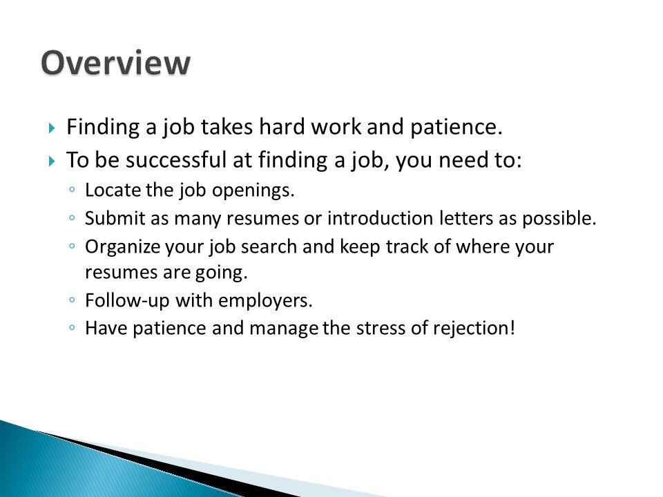 hard finding a job