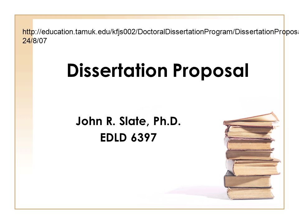 Phd thesis proposal powerpoint do kids need more homework