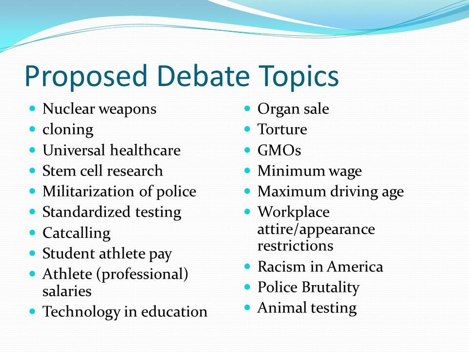 Good debate essay topics