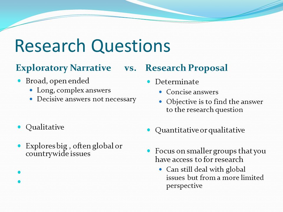 Exploratory research question