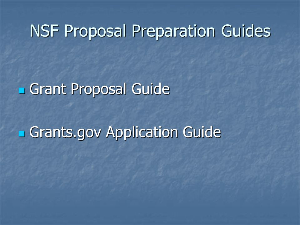 Nsf Proposal Preparation Highlights Ppt Video Online Download