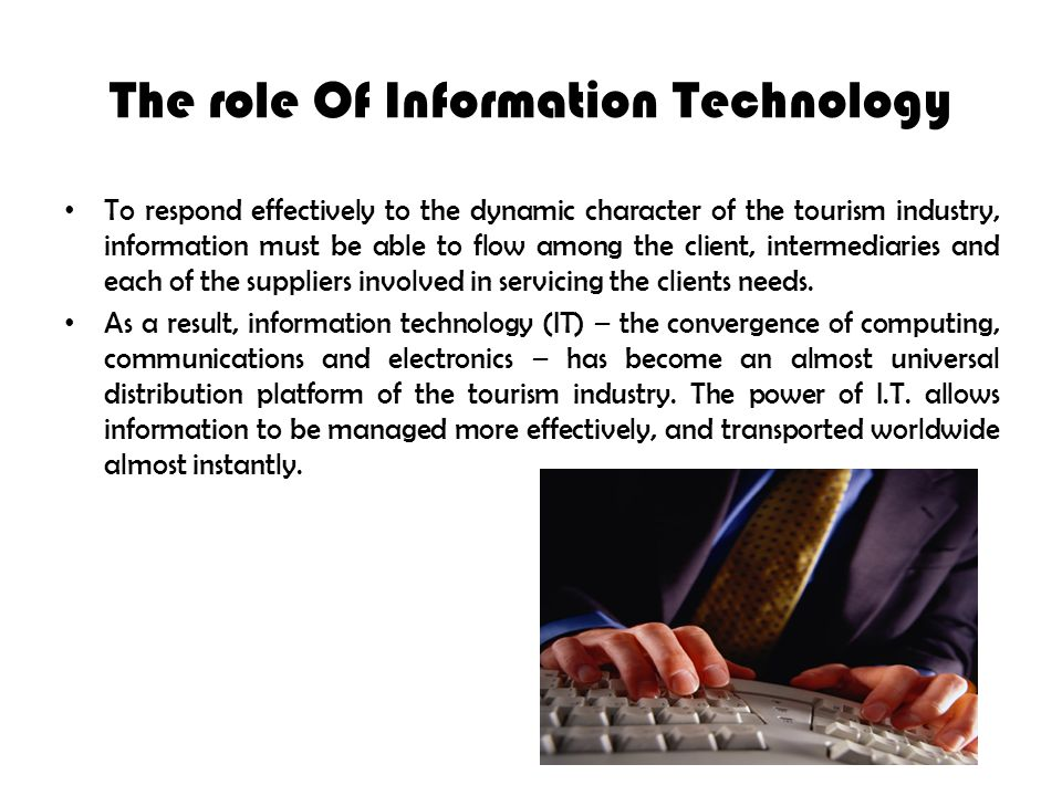 information technology role in airline industry There is no doubt that technology plays an important role in tourism and travel most of us are now used to booking our airline reservations on line some parts of the industry have begun to use technology prudently.