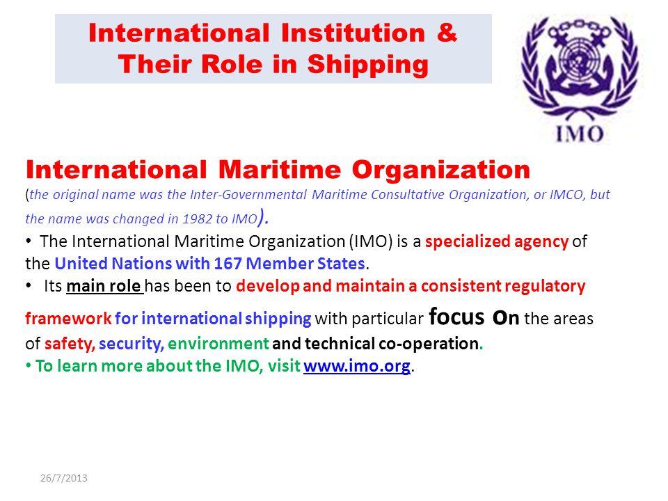 international maritime organization essay Baltic and international maritime conference (bimco) bekiashev, kamil   international association of independent tanker owners (intertanco)  bekiashev.