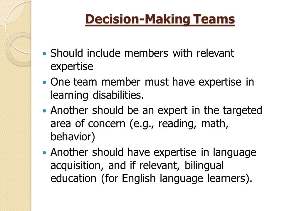 how to include the team in the decision making process