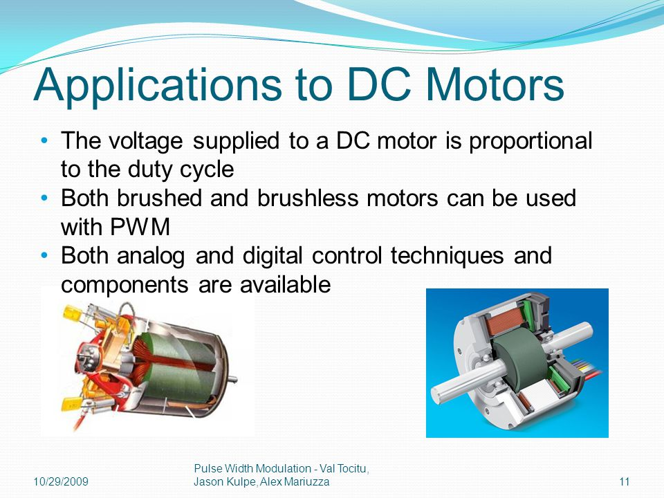 Pulse width modulation ppt video online download for Brushless dc motor control using digital pwm techniques