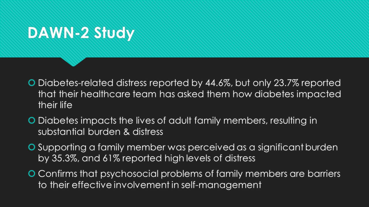 The DAWN (Diabetes Attitudes, Wishes and Needs) study ...