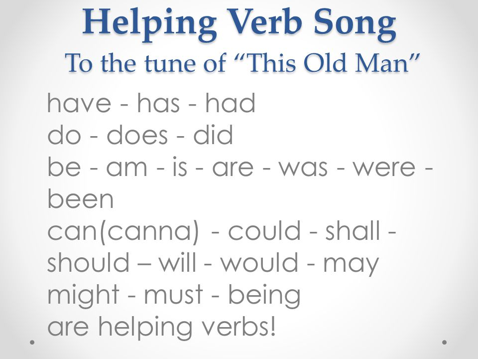 Images Of Helping Verb Song Www Industrious Info