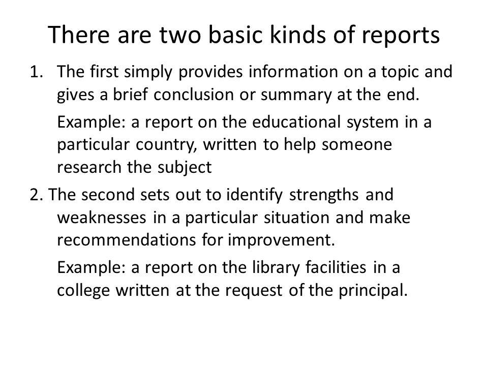 formal summary example