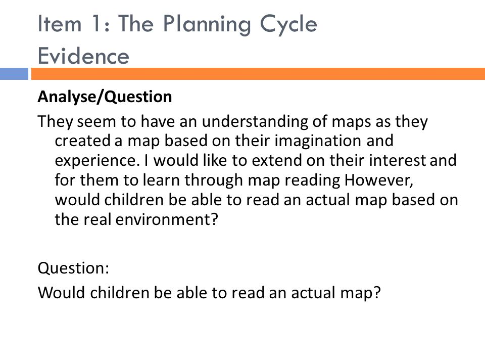 EDF Early Childhood Field Studies Professional Eportfolio - Map reading for children