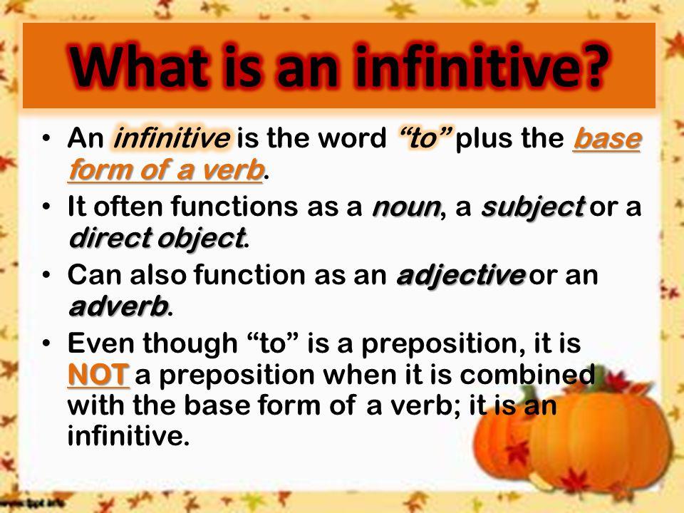 Infinitives. - ppt download