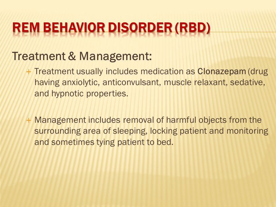 The Dangers of REM Behavior Disorder