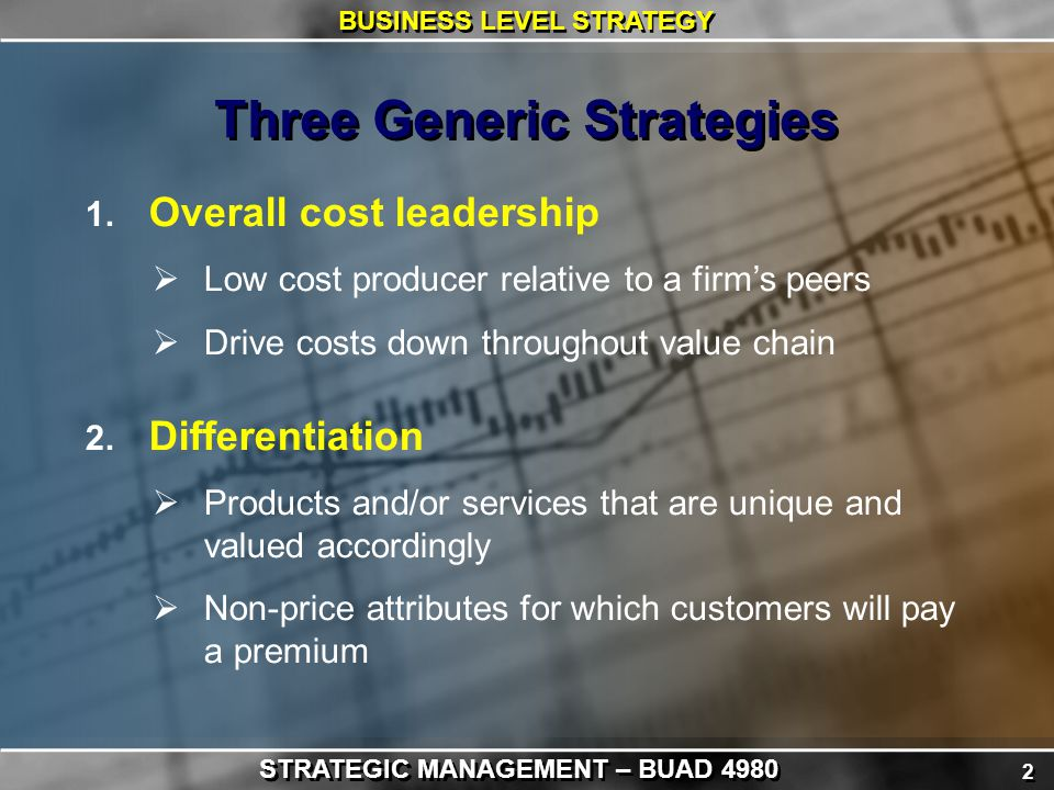 rolex differentiation strategy Describe the nature of focused cost leadership and focused differentiation companies that use a cost leadership strategy and those that use a differentiation strategy share one important characteristic: both groups try to be attractive to customers in general.