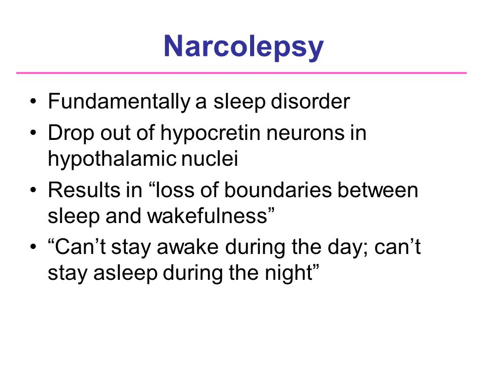 an analysis of the sleeping disorder narcolepsy Recent research has focused on genetic analysis that affects the production of chemicals in the brain narcolepsy is a life-long sleeping disorder.