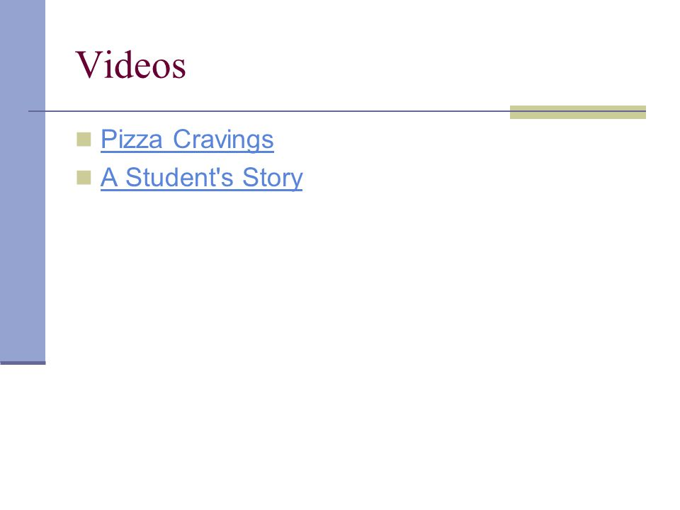 Videos Pizza Cravings A Student s Story