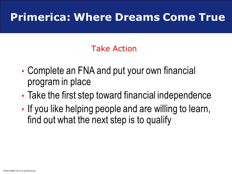 Primerica: Where Dreams Come True
