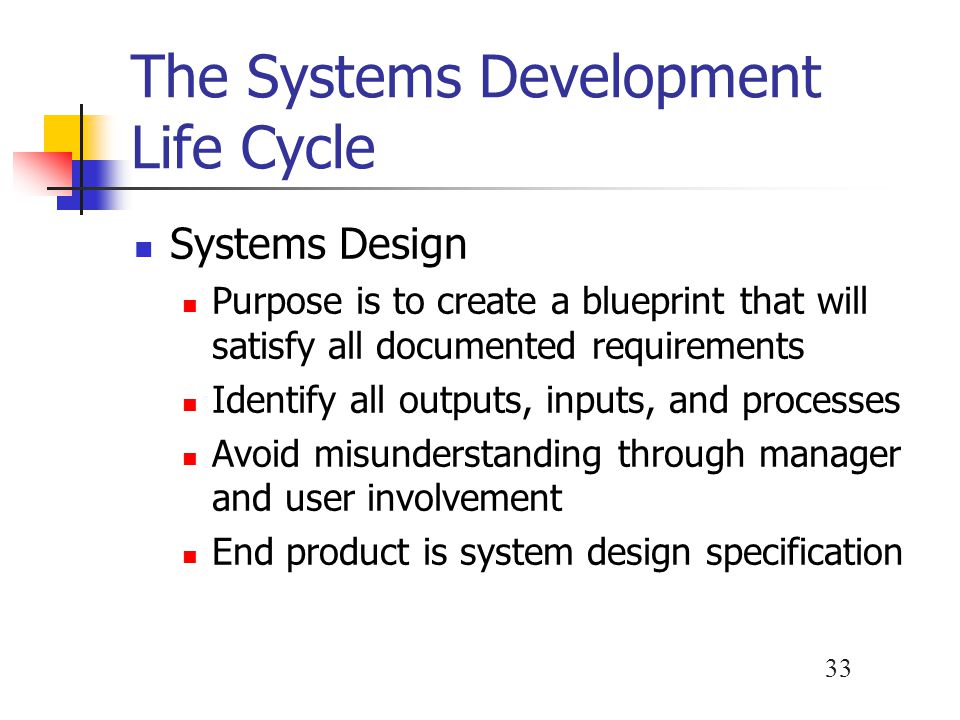 Introduction to systems analysis and design ppt video online download the systems development life cycle malvernweather Gallery