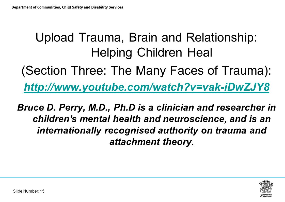 trauma brain and relationship video