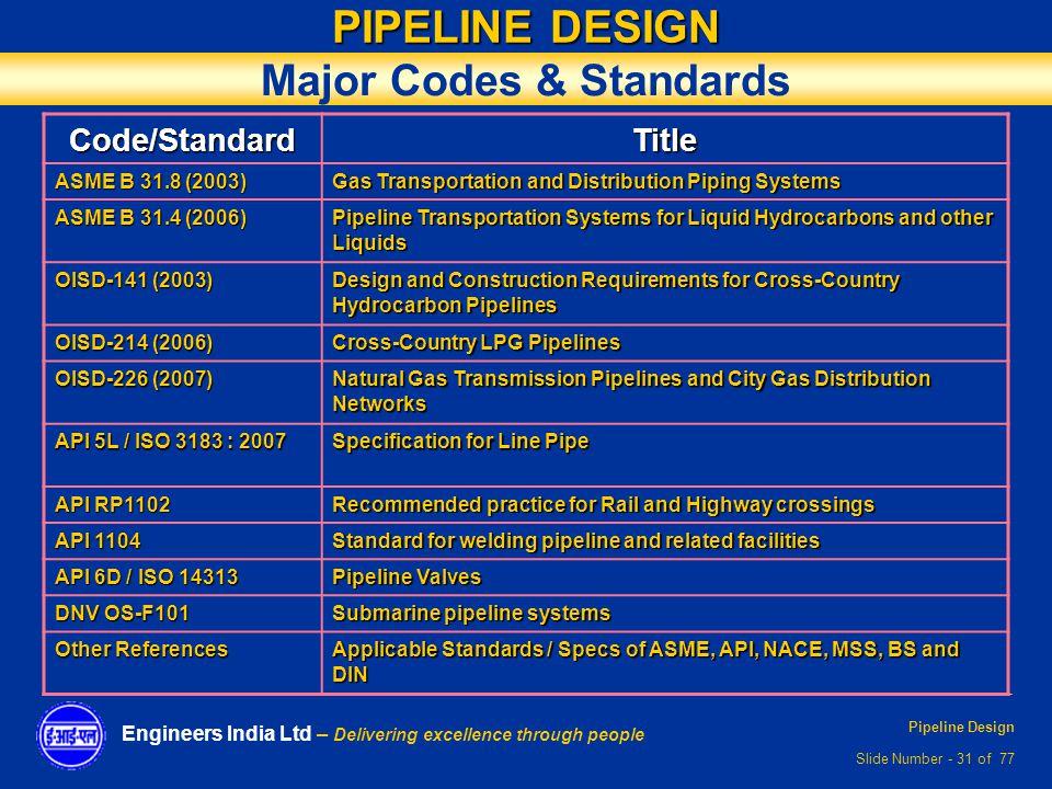Pipeline Design Ppt Video Online Download