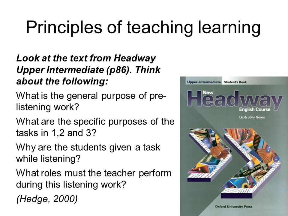 Principles of teaching learning