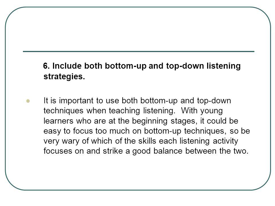 top down listening activities
