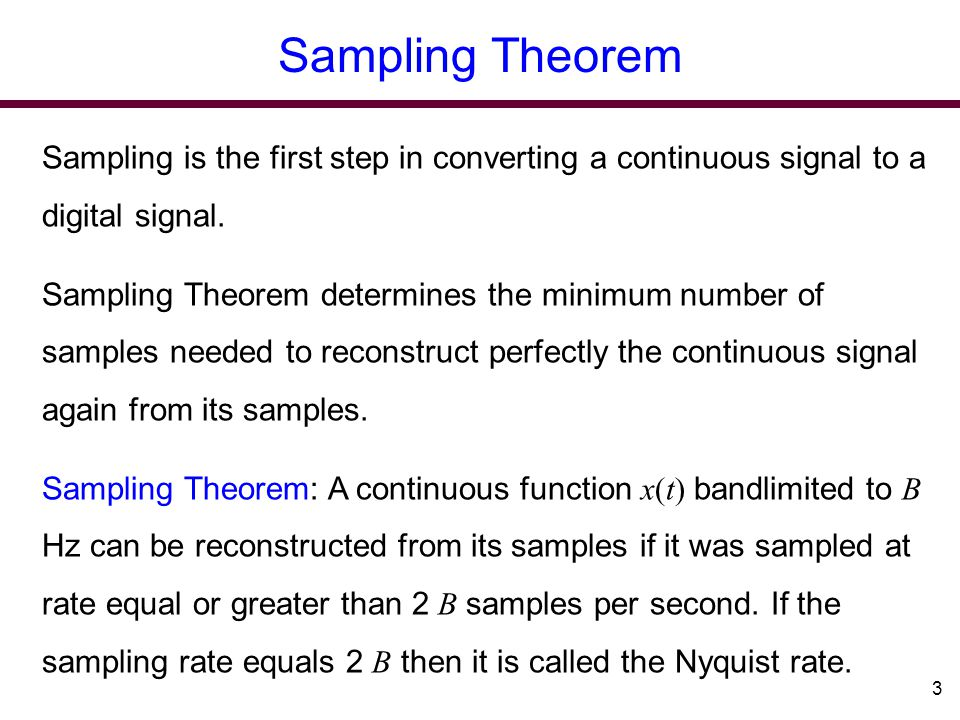 Ch 6 Sampling and Analog-to-Digital Conversion - ppt download