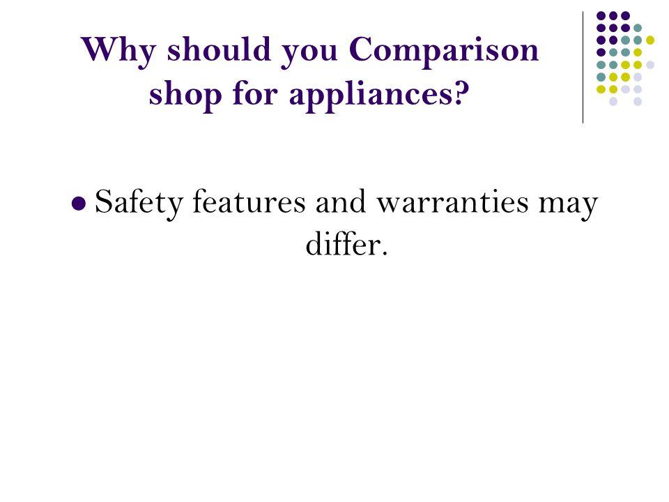 Why should you Comparison shop for appliances