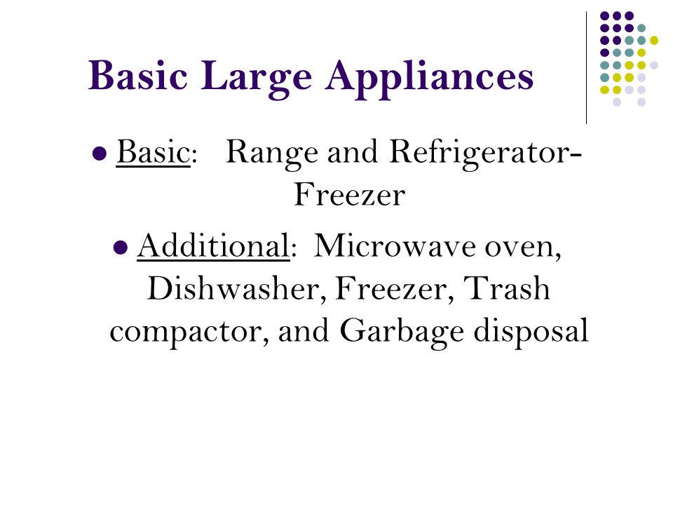 Basic Large Appliances