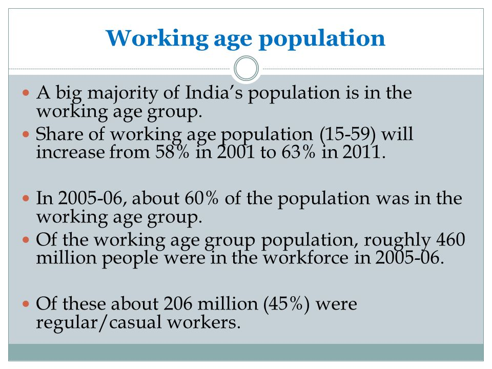 Working age population