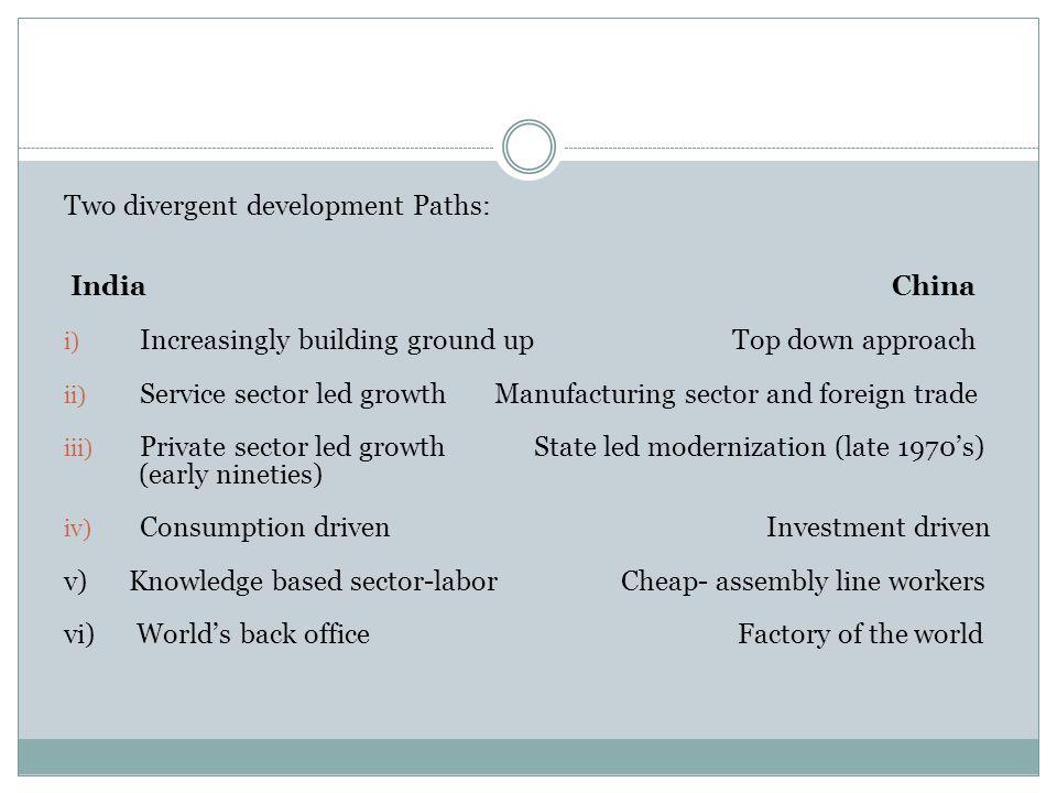 Two divergent development Paths: