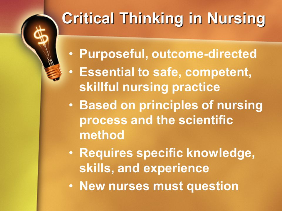 critical thinking nursing education