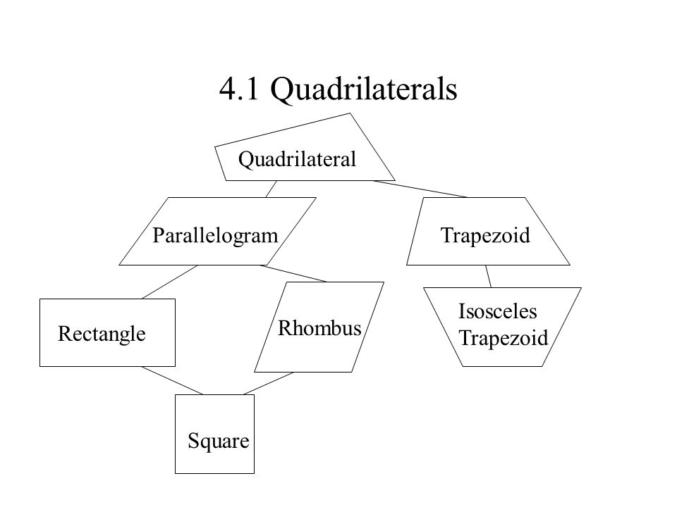 4 1 Quadrilaterals Quadrilateral Parallelogram Trapezoid