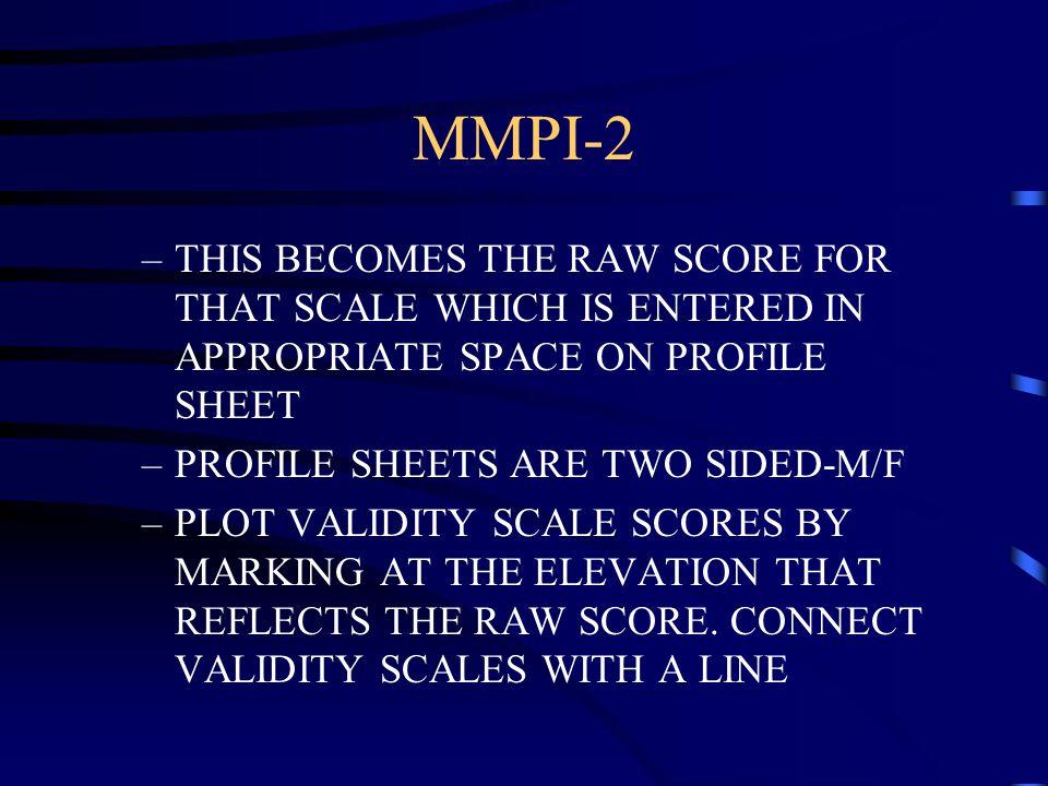 mmpi 2 answer sheet pdf