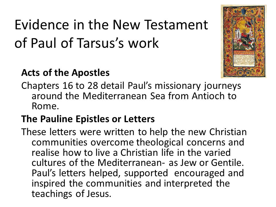 paul of tarsus contributions and impacts Paul of tarsus: wwwexporepaulweeblycom blog about contact does historical context challenge the authority of the written biblical word 4/28/2014 1.