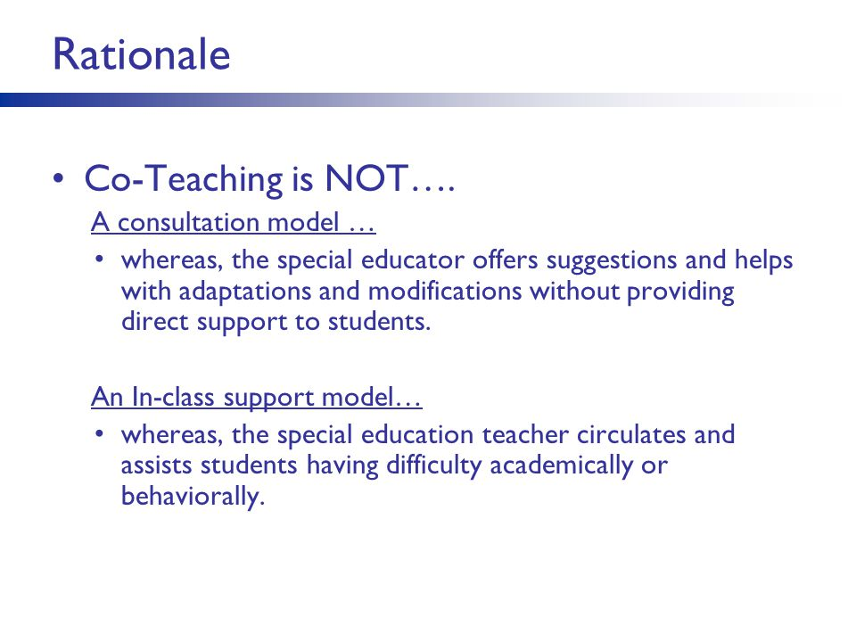 Collaborative Teaching Models Special Education ~ Co teaching a starting point ppt download