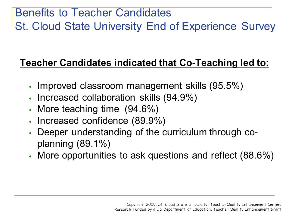 Collaborative Teaching Reaping The Benefits : Cooperating teacher and candidate workshop ppt
