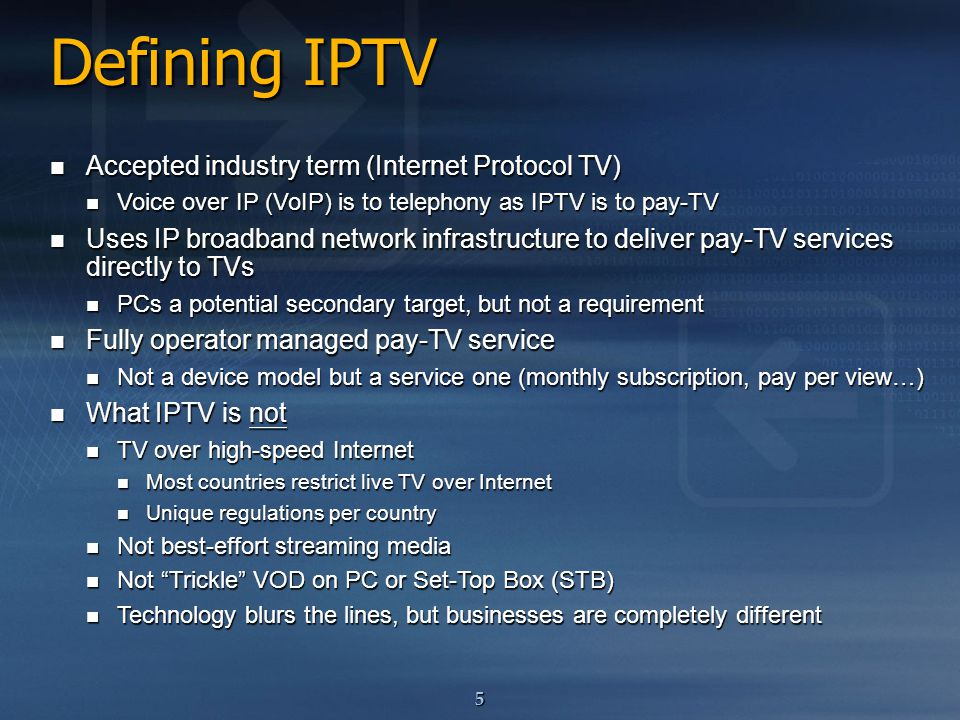 Transforming Telco to IPTV - ppt download