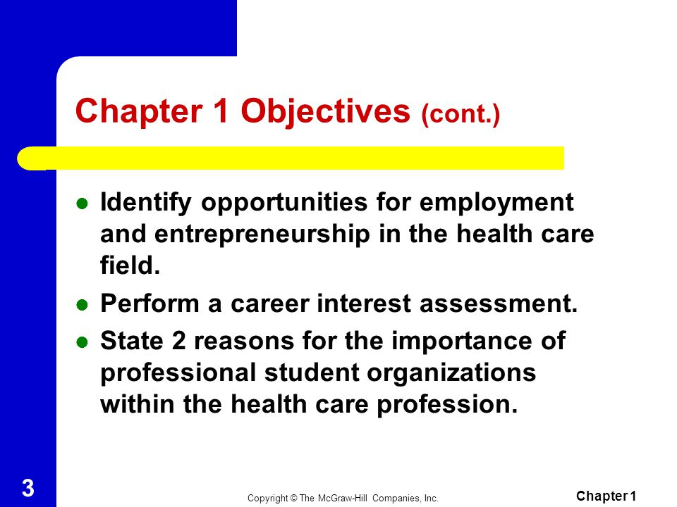 Chapter 1 Objectives (cont.)