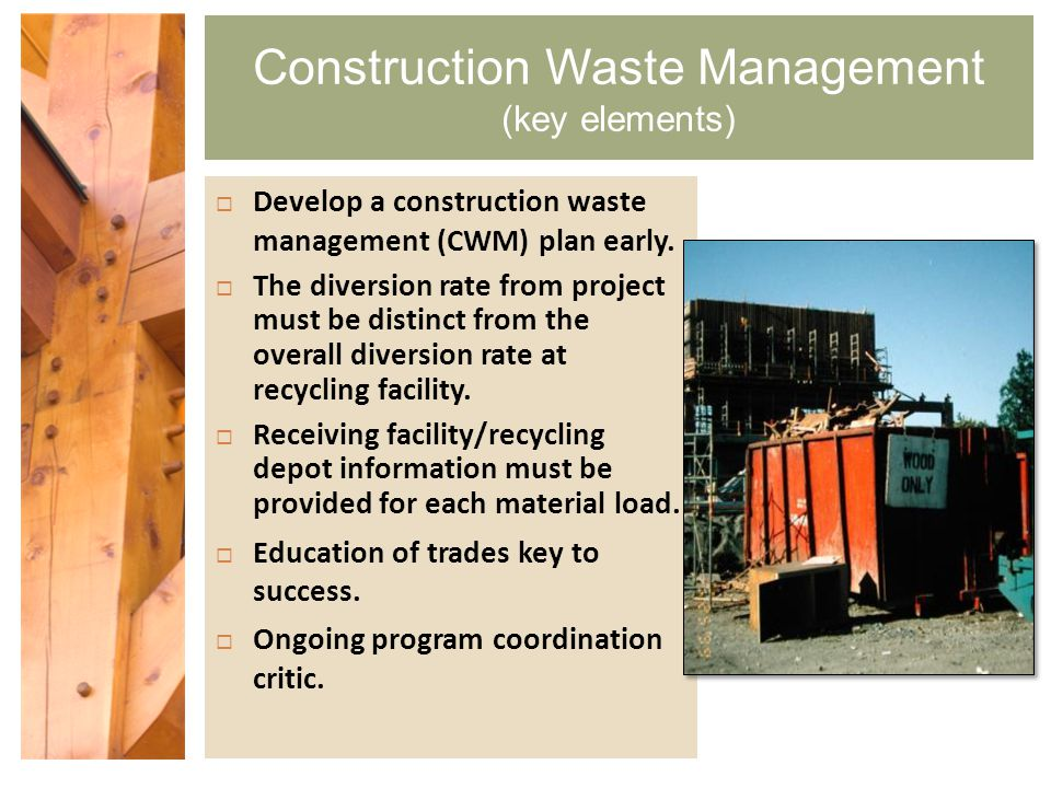 Construction and Demolition Waste Management