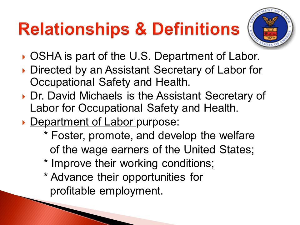 occupation health safety and welfare with in the room division Occupational health service safety, health and welfare at work act 2005 to this standard operating procedures manual aims to assist employers in.