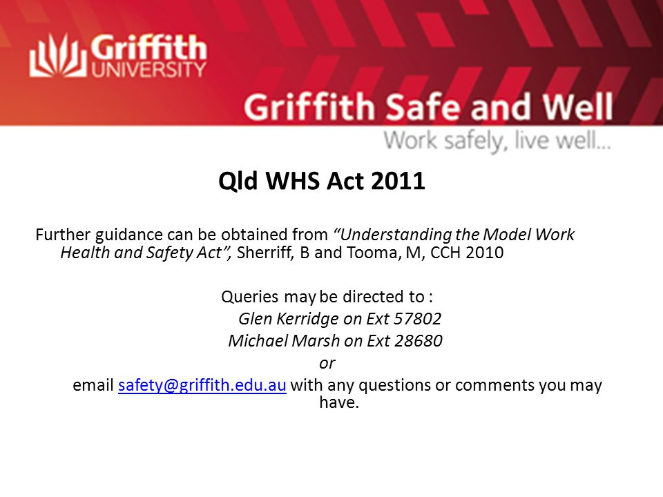 Qld Work Health Amp Safety Act Ppt Video Online Download